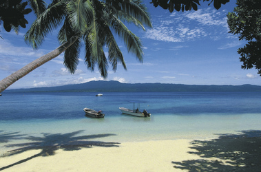 Strand von Qamea Island