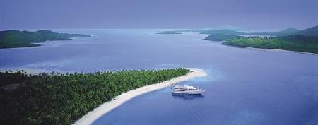 Blue Lagoon Cruises vor Nanuya Lailai