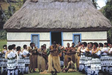 In einem fijianischen Dorf