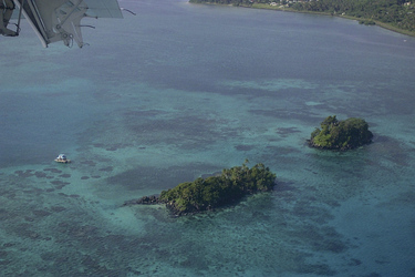 Im Anflug auf Taveuni