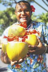 Freundlicher Empfang Fiji