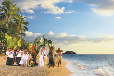 Hochzeit auf Malolo Island © H. Lund