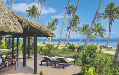 Terrasse des Strandbungalows