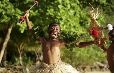 Junge in Fiji