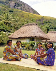 Fijianisches Dorf