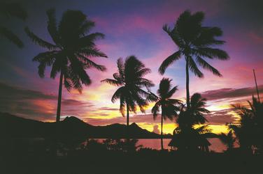 Sonnenuntergang auf Vanua Levu