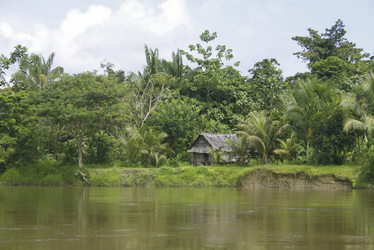Dorf in der Sepik Region