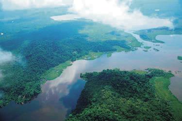 Sepik River Luftaufnahme