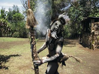 Auf dem Goroka Kultur-Festival