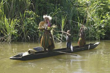 Auf dem Karawari River