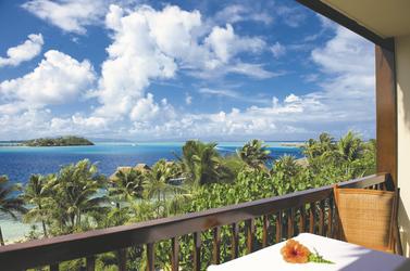 Aussicht vom Balkon des Meerblick-Zimmers © T. Deron