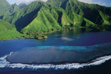 Beim Anflug auf Tahiti