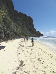 Am Strand auf Rurutu