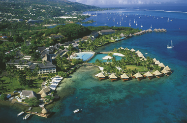 Blick auf InterContinental Tahiti Resort