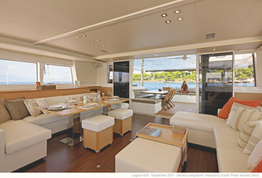 Lounge der Lagoon 620 © N. Claris, ©Nicolas Claris