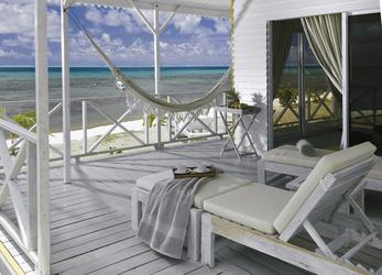 Terrasse im Strandbungalow