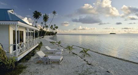 Strand des Opoa Beach Resorts
