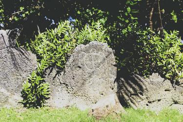 Petroglyphen auf Bora Bora