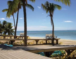 Veranda und Strand