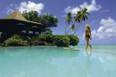 Pool im Pacific Resort Aitutaki