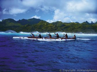Vaka vor Rarotonga, ©Kirklandphotos