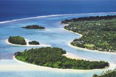 Muri Strand und Inseln