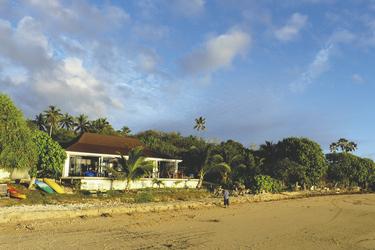 Restaurant und Strand