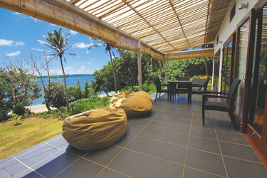 Meerblick von der Veranda in Tonga