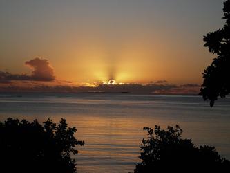 Sonnenuntergang beim Sandy Beach