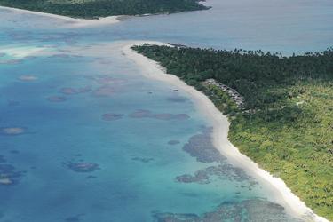 Sandy Beach Luftaufnahme