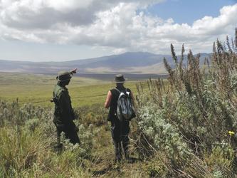 Wanderung am Ngorongoro Krater