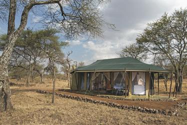 Safarizelt in einmaliger Umgebung