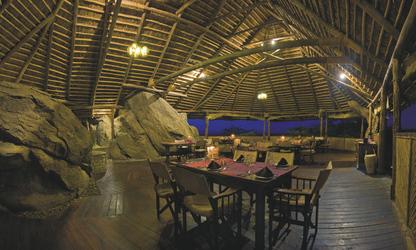 Das Restaurant im Olduvai Camp, ©Olduvai Camp