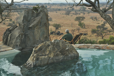 Aussicht vom Pool in Grumeti Hills, ©Grumeti Hills