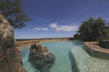 Unglaubliche Aussicht vom Pool, ©Grumeti Hills