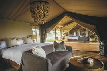 Familienzelt im Siringit Serengeti Camp