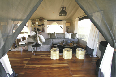 Lounge im Siringit Serengeti Camp