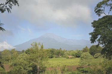 Blick zum Mount Meru