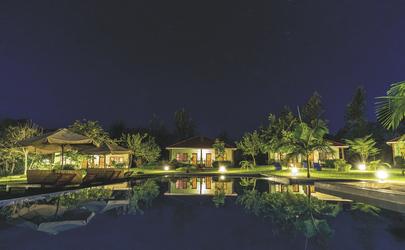 Der Garten am Abend
