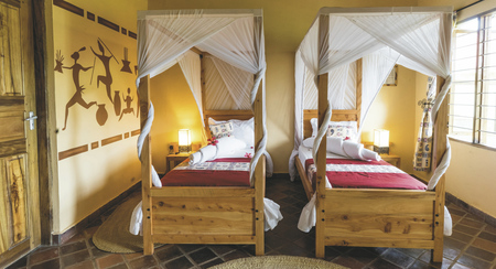 Gästezimmer in der African View Lodge