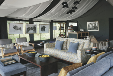 Lounge im Ngorongoro Crater Camp