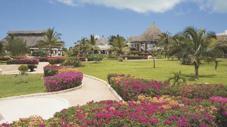 Der Garten des Resorts