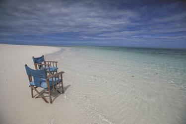 Am besten lässt es sich am weißen Sandstrand auf Fanjove entspannen