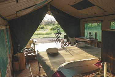 Doppelzelt im Mdonya Camp