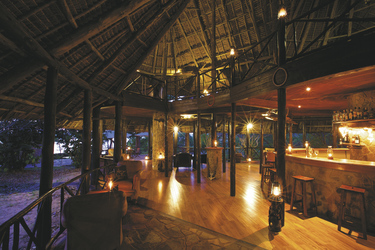 Lounge im Rufiji River Camp