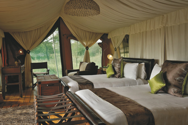 Safarizelt im Ewanjan Tented Camp