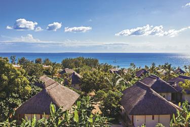Das Resort am Ozean von oben