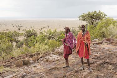 Masaikrieger in ihrem Zuhause