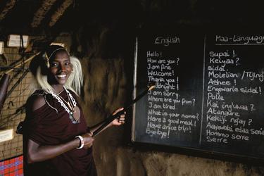 Masaischule, ©Jörg Ehrlich, DIAMIR Erlebnisreisen