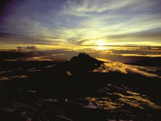 Sonnenaufgang vom Berg